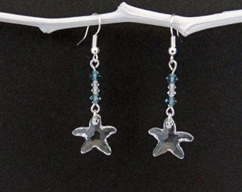 Swarovski sea star earrings