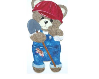 "Honey Bear ""Builder"" wood and paper"