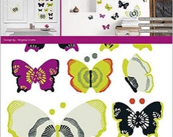 "WALL ART HOME DECO ""BUTTERFLY * 2 BOARDS DECALS"""