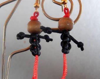 Snowman earrings night VITALITY shamballa style