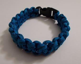 Mixed dark turquoise Paracord Bracelet