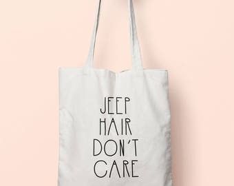 Jeep Hair Don't Care Tote Bag Long Handles TB0253