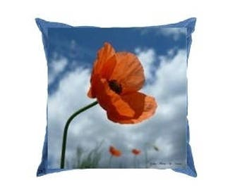"""Poppy"" 40x40cm cushion"