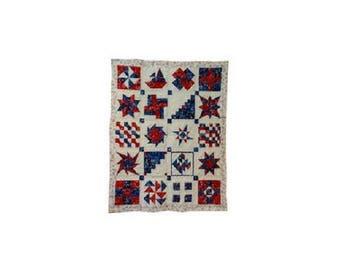 decorative Panel, plaid, patchwork america fabric