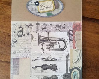 Greeting card for Dad. Is he A music lover? This is a perfect card for a birthday, Father's Day,  or just because card.