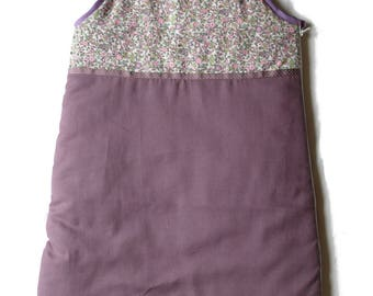 Sleeping bag scalable lilac / purple for children 3-15 months