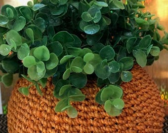 Orange Woven Basket