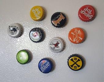 Bottle cap Magnets- 10 Pack