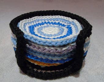 cup, glass coasters with colorful box