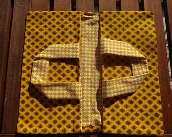 Bag pie Valdrôme yellow diamond fabric