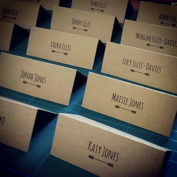 Rustic Wedding Place Cards Name Card DIY Reception Personalised