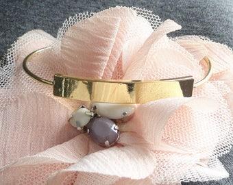 medium curved rectangle tray golden copper Bangle bracelet