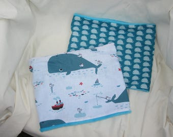 snood child whale pattern - soft and warm - customizable