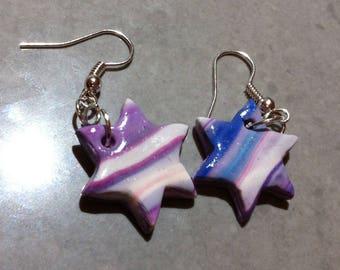 Variation of purple stars earrings