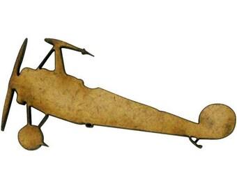 Cut out of MDF wood - shape plane 4.9 x 2.5 cm.