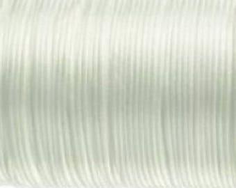 White - 2 mm x 10 m - new - rat tail cord