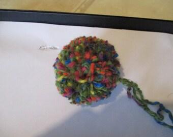 Heather wool Pompom
