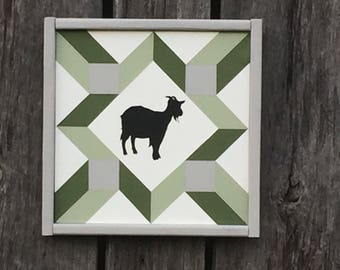 Goat Mini Barn Quilt- Can Customize