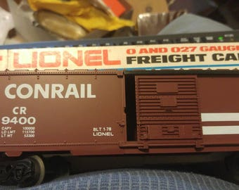 LIONEL Trains #9400 CONRAIL Box Car New in Original,Box