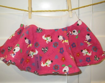 Dogs Baby Infant Skirt, Circle Skirt, Size 12 months