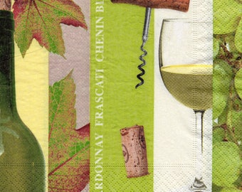 353 - Paper towel CHARDONNAY wine glass