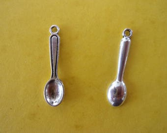 Charm/charms in the shape of little silver spoon - 24mm