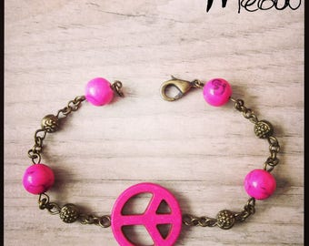 "Ethnic bracelet ""Peace in pink""-inspired Bohemian"
