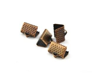 End caps 10mm copper ribbon clip