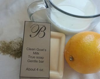 Clean goat's milk soap