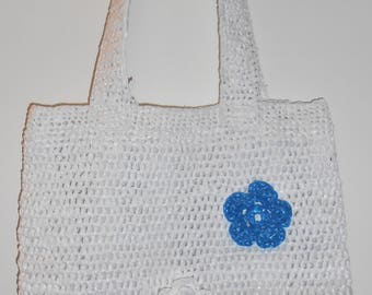 Crochet bag white