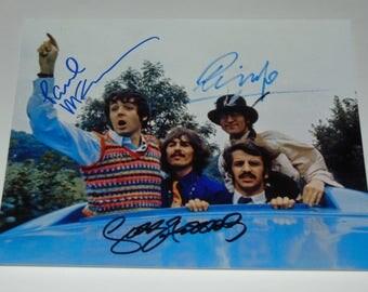The Beatles Signed Autographed Photograph Paul McCartney George Harrison Ringo Starr