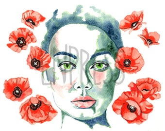 Find Peace with the Poppies - Watercolour Art Print