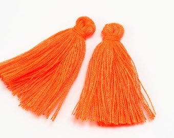 Orange 2 X 30mm without ring color tassel