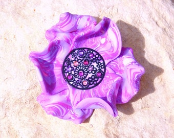 Large cabochon * if wild flower * N ° 1