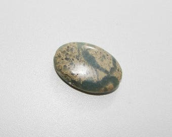 Aqua terra Jasper 30 by 20 mm flat oval shape.