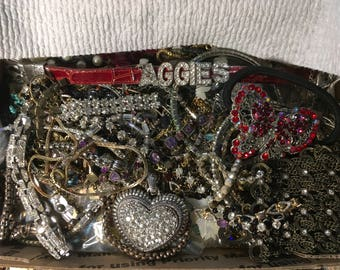 Mixed vintage to now rhinestones, mixed, wear, repair, Repurpose, reuse #9642