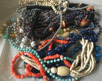 Z6, Vintage to noe Beaded necklaces, long necklaces, medium, and or short necklaces.