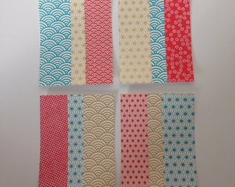 Set of 4 single cards A5 size papers