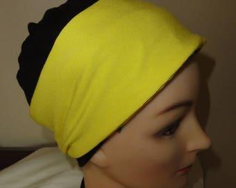 Yellow jersey headband neon color of summer, accessorises caps