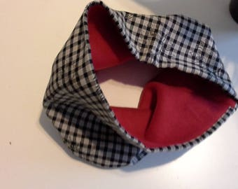 cotton and fleece neck warmer