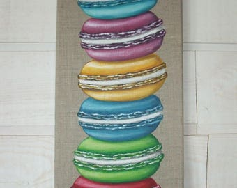 Colorful macarons column painting