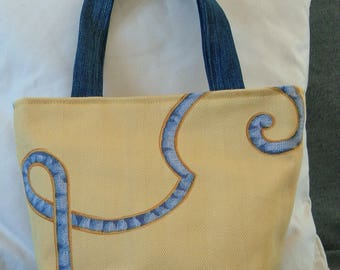 bag in yellow blue