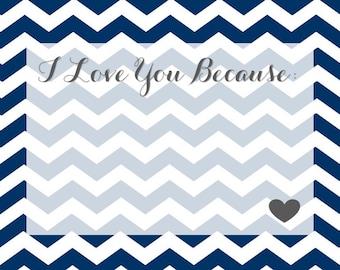 I love you because (blue)