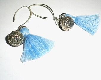 Bohemian Silver earrings and tassels