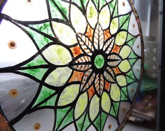 The native - stained glass frame - 30 * 30