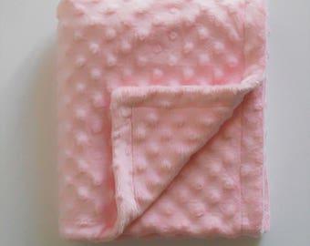 Baby Pink velvet minky baby blanket