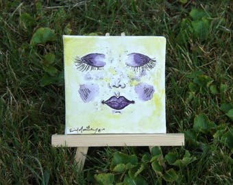 Purple Face small painting