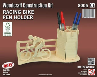 Racing Bike Pen Holder Woodcraft Model Kit