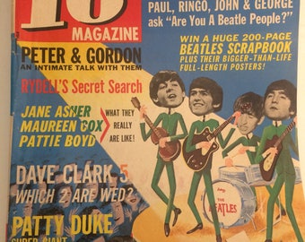 Scarce 16 Magazine October 1964 -- the Beatles tour in the USA