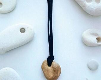 Holey stone necklace | holey stone talisman | Hag stone necklace | natural holey stone from Amber coast, Suffolk UK